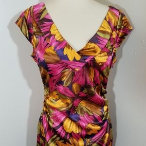 {Maggy London} Tropical Print Sheath Dress
